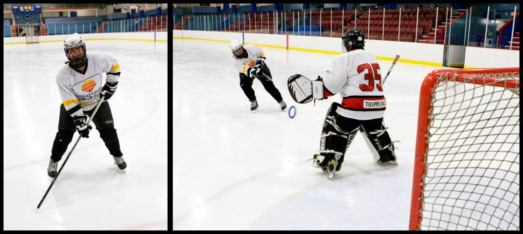 Sarah from Aries Acounting at Ringette practice Nov 2014